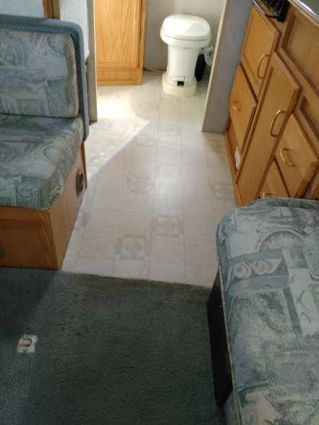 Carpet and linoleum BEFORE