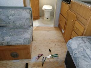 floor out to bathroom