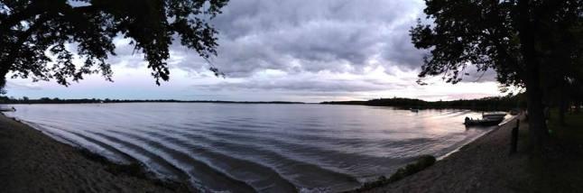 Panaramic Lake Carlos cloudy